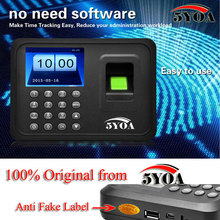 Biometric Fingerprint Time Attendance Clock Recorder Employee Digital Electronic English Portuguese Voice Reader Machine(China)