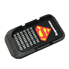 Super man hero Cartoon car phone holder Non-slip mat Silicone Anti Slip Mat mobile phone stands support gps for iphone 5s 6 plus