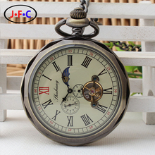 2017 Western wind mechanical pocket watch students wear accessories with pendant couples personality simple mechanical table