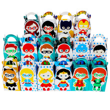 Girls and Boys Superhero  Favor Box Candy Box Gift Box Cupcake Box Boy Kids Birthday Party Supplies Decoration