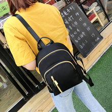Star and nylon double shoulder bag women's leisure Oxford cloth travel backpacking south Korean canvas schoolbag 2017 new tide