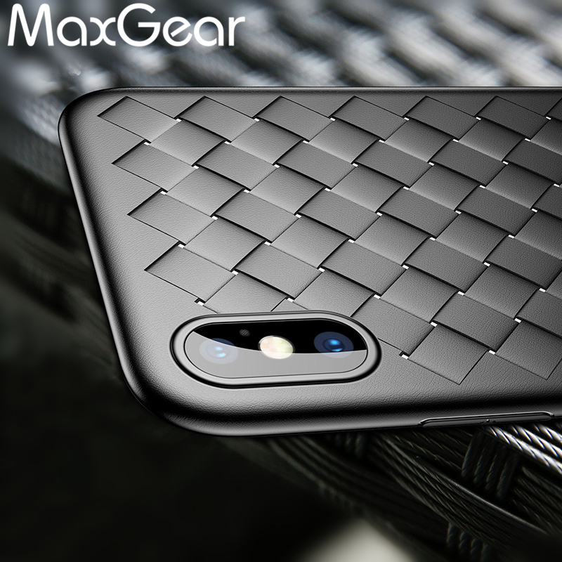 iPhone X Case Luxury Brand Weave Pattern Soft TPU Full Case Apple iPhone X Ultra Slim Shockproof Cover iPhone X