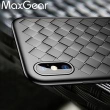 Buy iPhone X Case Luxury Brand Weave Pattern Soft TPU Full Case Apple iPhone X Ultra Slim Shockproof Cover iPhone X for $2.24 in AliExpress store