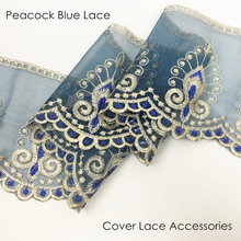 Peacock Blue Lace for Table cloth Sofa Cover Fringes Dress Home Decorative Accessories Sell by bale