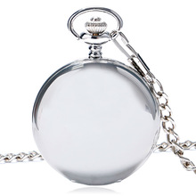 Hot Sale Style Fashion New Arrvial Classic Smooth Vintage Silver Color Women Mens Arabic Numbers Fob Pocket Watch Free Shipping(China)
