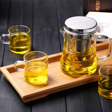 free shipping Kamjove new style tea cup flower tea pot heat-resistant glass tea set brewing device glass teapot coffee pot