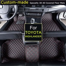 For Toyota Highlander 5/7 seats Car Floor Mats Car styling Foot Rugs Customized Auto Carpets Custom-made Specially(China)