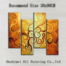 Artist Handmade Good Quality Abstract Golden Oil Painting On Canvas Hand-painted Abstract Gold Oil Painting For Decoration