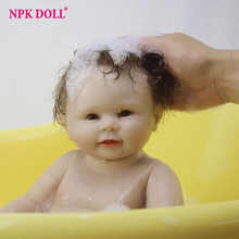50cm Reborn Dolls Real Looking Boy Baby alive Dolls Full Silicone Complete Body Vinly Shower Dolls Children Gift Bath Toys(China)