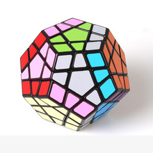 Shengshou Megaminx Magic Cubes Pentagon 12 Sides Gigaminx PVC Sticker Dodecahedron Toy Puzzle Twist(China)