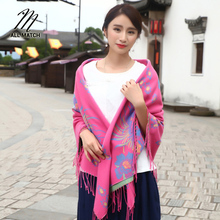 2017 Sale Rushed Winter Folk Style Imitation Large Travel Photographs And Air Conditioner Manufacturers Selling Warm Shawl(China)