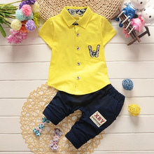 BibiCola Summer Baby Boy Clothing SetT-Shirt+pant Kid Boy SummerCasual Clothes Suits Children Boy Clothes Set(China)