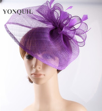 17 colors generous sinamay material fascinator headpiece race headwear church hat suit for all season OF1542(China)