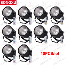 SONGXU 10pcs/lot Wholeslae 80W 4in1 RGBW COB LED Par Light Newest COB Par Can Light with Remote Control/SX-PL0180