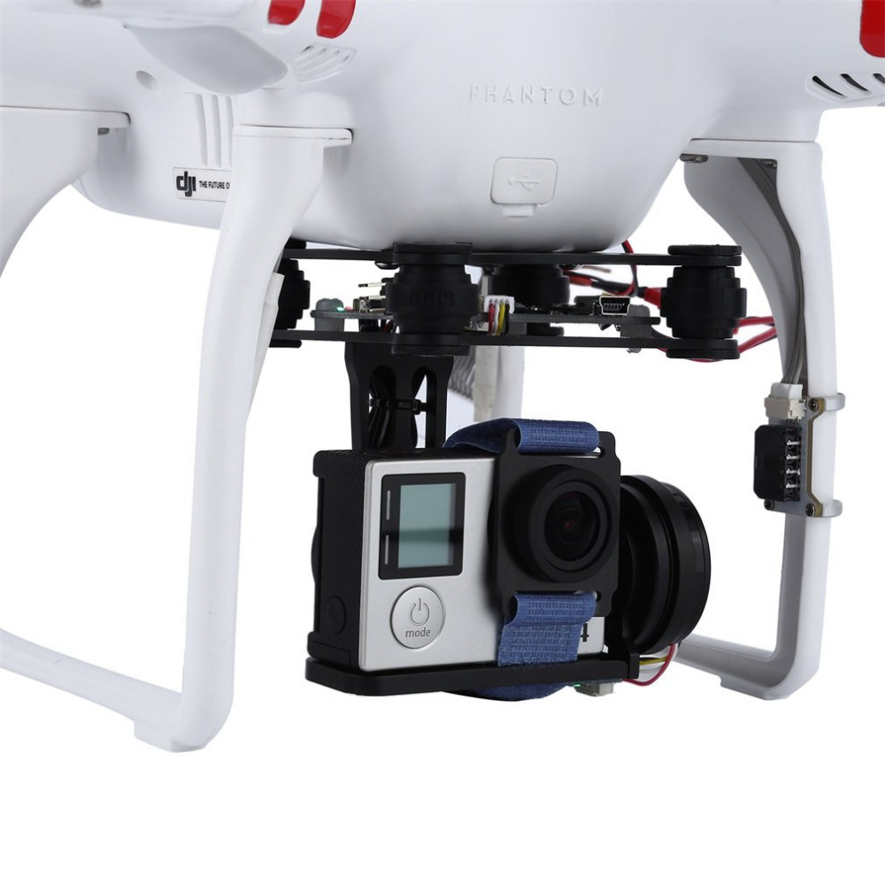 Ocday Replacement Black FPV 2 Axle Brushless Gimbal With Controller For DJI Phantom GoPro hero 3 4