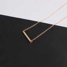 Popular Gold color thin adjustable chain Simple Necklace bar pendants necklaces wedding bridal jewelry