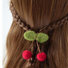 10pcs Small Cloth Flower Red Fruits Green leaves Hairpin Clothes Hat DIY Accessorie Hot