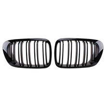 Auto Replacement Parts 1Pair Bright Black Car Front Grille Racing Grills for BMW E46 2 Door 1998-2002 Exterior Parts car-styling