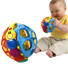 New Baby Toy Ball Bendy Baby Walker Rattles Develop Baby Intelligence Baby Toys 0-12Months Einstein Plastic Hand Bell Rattle(China)