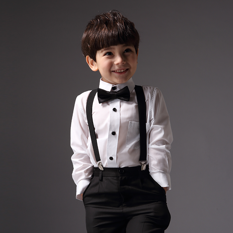 Boy Formal Suit Clothes for Wedding Prom Party Costume 3pcs Shirt Pants Braces Set British Style Kids Clothing<br><br>Aliexpress