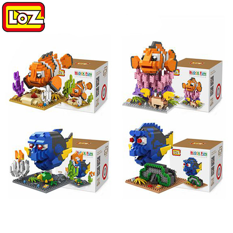Hot Sale Cartoon Nemo loz diamond blocks lot anime figure new Dory kids toys educational kawaii kids toys for children gift<br><br>Aliexpress