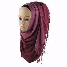 2016 170*60cm spring fall Thin section the Silk Floss Women sparkly plain viscose Ombre shimmer scarf hijab shawl jd064