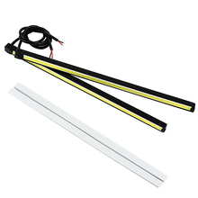 20.5cm Universal Fog Lamps DC 12V Auto Accessories Daytime Running lights LED 6000K COB Car-styling Car DRL Light Source(China)