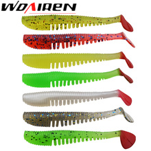 10Pcs/lot 75mm 2.8g Minnow Fishing Lure Pesca Soft Baits Leurre souple Iscas Artificial Shad Worm Carp Fishing Peche Soft Bait(China)