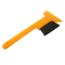 New Yellow Long Handle ABS Car Snow Scraper Ice Shovel Car Cleaning Tool Useful Dual-use with Snow Removing Brush Tool Hot Sale