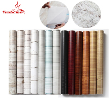 45cmX5m Waterproof PVC Vinyl Wood Grain Self adhesive Wallpaper Kitchen Wardrobe Cabinet Furniture Renovation Door Wall Stickers(China)