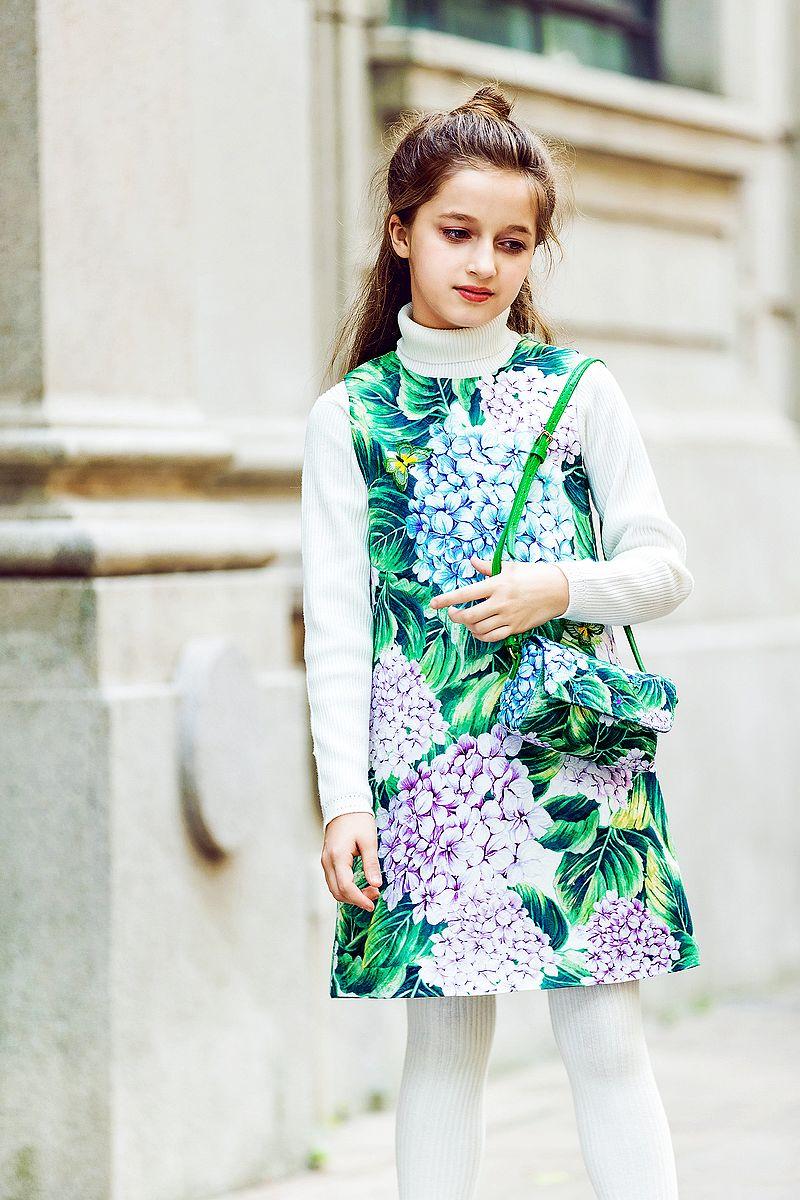 WL.MONSOON Toddler Girl Dresses Children Clothes 2017 Brand Winter Princess Dress Robe Enfant  Ortensia Floral Dress Kids<br>