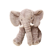 Baby Elephant Plush Pillow Stuffed Animal Cute Soft Toys Brinquedos Giant Plush Kawaii Bed Knuffel Peluches Toy For Girl 50D1002(China)
