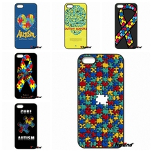 Puzzle Autism Awareness Art For iPod Touch iPhone 4 4S 5 5S 5C SE 6 6S 7 Plus Samung Galaxy A3 A5 J3 J5 J7 2016 2017 Case Cover(China)