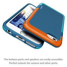 2  in 1 Candy Color Shockproof Hybrid Case for iPhone 6 6S Plus 7 7Plus Tough Hard Plastic Soft Silicone Slim Case Accessories