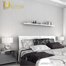 Modern Striped Wall paper Bedroom Beige White  Living Backgrounds Vinyl Pvc Wallpaper Living room papel de parede R542
