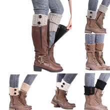 2017 Hot Sale Women Winter Short Leg Warmers Hemp Flowers Pattern Solid Color Knitted Crochet Boot Cover Keep Warm Boots Socks(China)