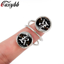 2017 Limited Real Party Trendy Anillos Caxybb Japan Anime Death Note L Lawliet Kira Rings Jewelry For Gothic Double Ring G-r19