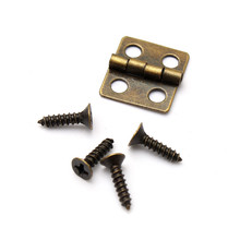 MTGATHER 12*13mm/30*21mm Antique Brass Vintage Jewelry Gift Wine Wood Wooden Box Hinge With Screws