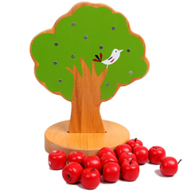 Fun Magnetic Apple Tree Baby Wooden Educational Toys Early Intellectual Magnetic Building Blocks Wholesale Infant Teaching Aids