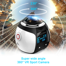 360 Mini WiFi Panoramic Video Camera 4K 16MP Photo 3D Sports DV DVR 30m Waterproof Digital VR Camcorder Video Image ABS Cam