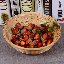 Cheap 20pcs 3cm Foam Pine Cones Mini Artificial Fake Foam Fruit And Vegetables Berries Flowers Wedding Christmas Tree Decoration(China)