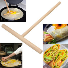 Portable Home Kitchen Tool Kit DIY Use Manufacturer Of Pancake Crepe Maker Pancake Batter Wooden Spreader Stick #XTT(China)