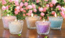 Essential oil glass aromatherapy candle smoke - free wedding gift return romantic candles Candlestick Cup