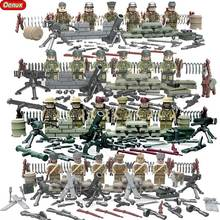 2017 New WW2 Mini Military Toy US British Soviet Janpan Army Soldiers Figure Building Block Military Weapons Model Brick Kid Toy