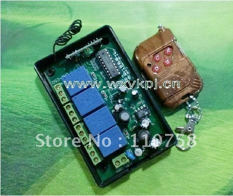 Free Shipping 4000W 220V 10A 4CH Fixed Code Wireless Remotes Control Switch System Receiver*controller 315MHZ<br><br>Aliexpress