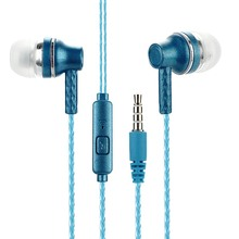 3.5mm Stereo In-ear Earbuds Earphone With Wheat-Controlled Pearl Transparent Headphones High-elastic Music Bass Headset