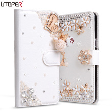 Buy UTOPER Luxury Bling Rhinestone Case Doogee Shoot 1 Case Cover Flip Wallet PU Leather Case Etui Doogee Shoot 1 Cover for $6.99 in AliExpress store