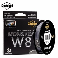 SeaKnight MONSTER W8 300M Braided Fishing Lines 8 Strands Strong PE Multifilament Fishing Line 20 30 40 50 80 100LB Carp Fishing(China)
