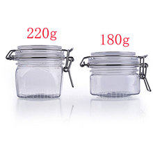 PET Sealed Cans,Empty Makeup Containers,180g/220g Refillable Solid Perfume,Mud Mask, Honey Makeup Skin Care Packaging Container(China)