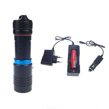 waterproof led flashlight XM-T6 2000LM Torch Underwater lighting diving Leds lighting Flashlight + 18650 battery+Charger